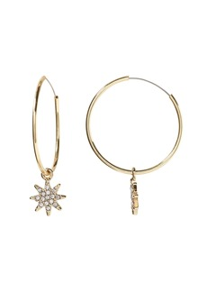 Banana Republic Pave Starburst Hoop Earring