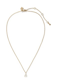 Banana Republic Pave Wishbone Pendant Necklace