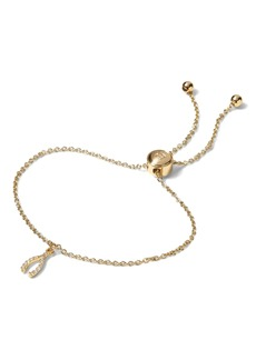 Banana Republic Pave Wishbone Slider Bracelet