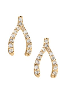 Banana Republic Pave Wishbone Stud Earring