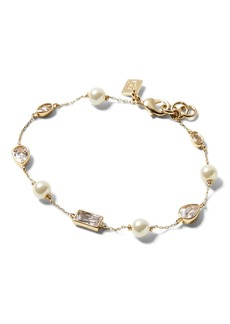 Banana Republic Pearl and Bezel Stone Bracelet