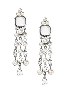 Banana Republic Pearl and Stone Mini Chandelier Earring