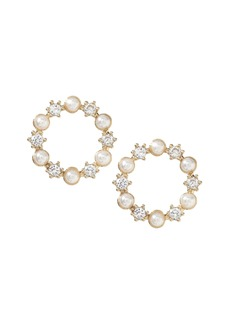 Banana Republic Pearl Circle Stud Earring