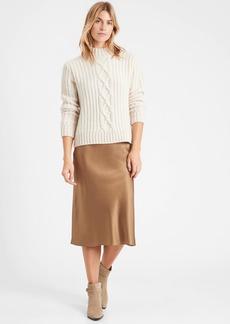 Banana Republic Petite Heritage Washable Silk Bias-Cut Skirt