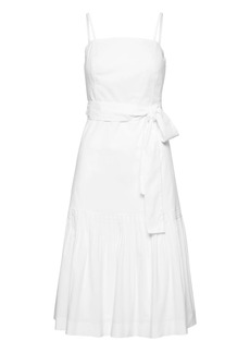 Banana Republic Petite Super-Stretch Strappy Fit-and-Flare Dress with Removable Straps