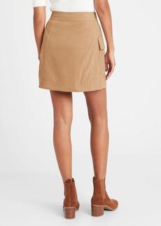 Banana Republic Petite Utility Wrap Skirt
