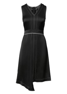 Banana Republic Pick-Stitch Asymmetrical Fit-and-Flare Dress