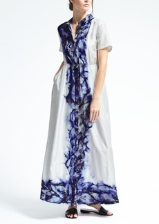 Piece & Co. Sun-Dyed Silk Maxi Shirtdress