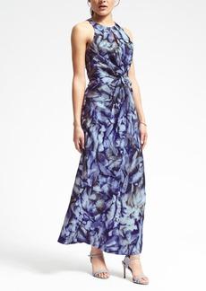 Piece & Co. Sun-Dyed Silk Twist-Front Dress