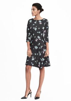 Pieced Watercolor Floral Dress