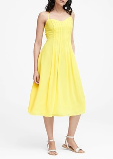 Banana Republic Pin-Tuck Midi Dress