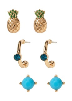 Banana Republic Pineapple Stud Earrings Pack
