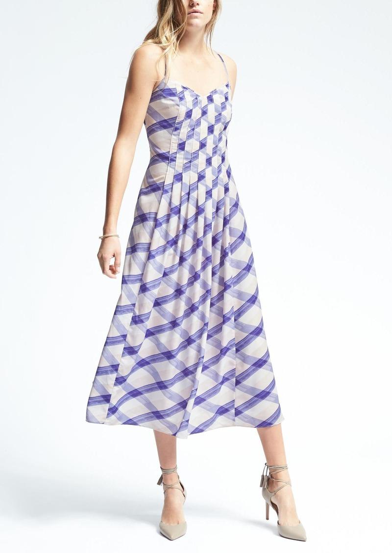 Banana Republic Plaid A Line Slip Dress Dresses