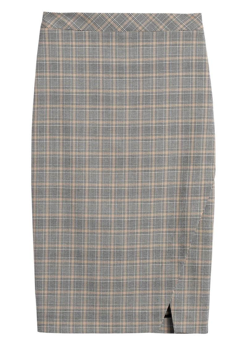Banana Republic Plaid Bi-Stretch Pencil Skirt
