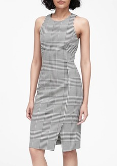 Banana Republic Plaid Bi-Stretch Sheath Dress