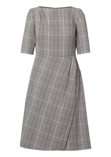 Banana Republic Plaid Bi-Stretch Wrap Dress
