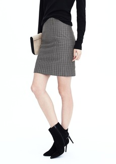 Banana Republic Plaid Bistretch Pencil Skirt