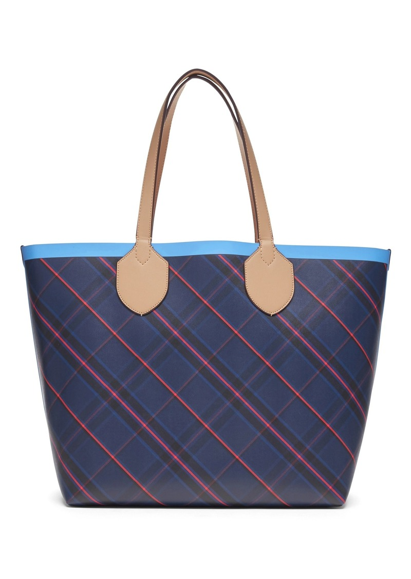 Banana Republic Plaid Extra-Large Tote