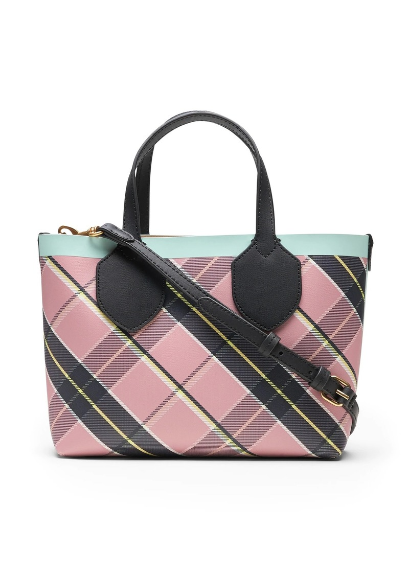 Banana Republic Plaid Mini Tote