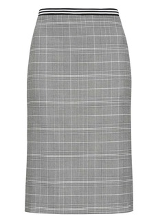 Banana Republic Plaid Pencil Skirt with Vented Sides