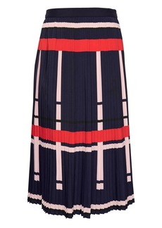 Banana Republic Plaid Pleated Midi Skirt