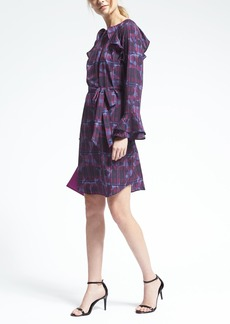 Plaid Ruffle-Trim Dress