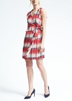 Plaid Ruffle Wrap Dress