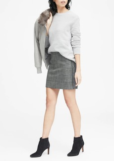 Banana Republic Plaid Side-Stripe Mini Skirt