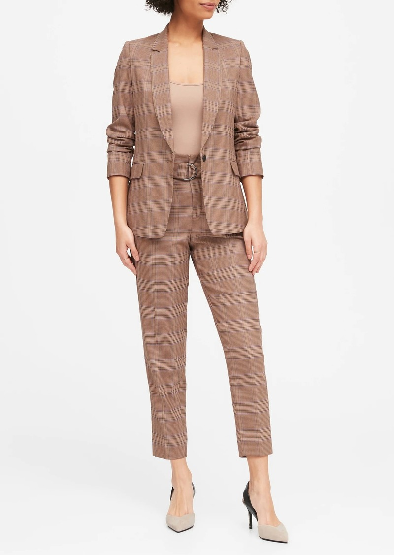Banana Republic Plaid Soft Blazer