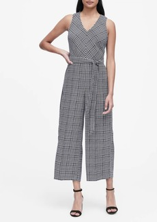 Banana Republic Plaid Wide-Leg Cropped Jumpsuit