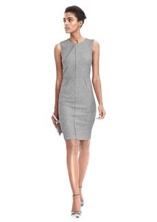 Pleat Neck Flannel Dress