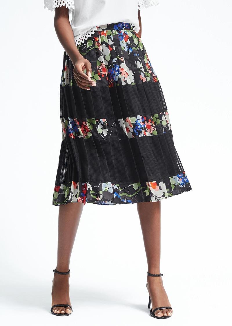 280801ae0b Banana Republic Pleated Floral Midi Skirt