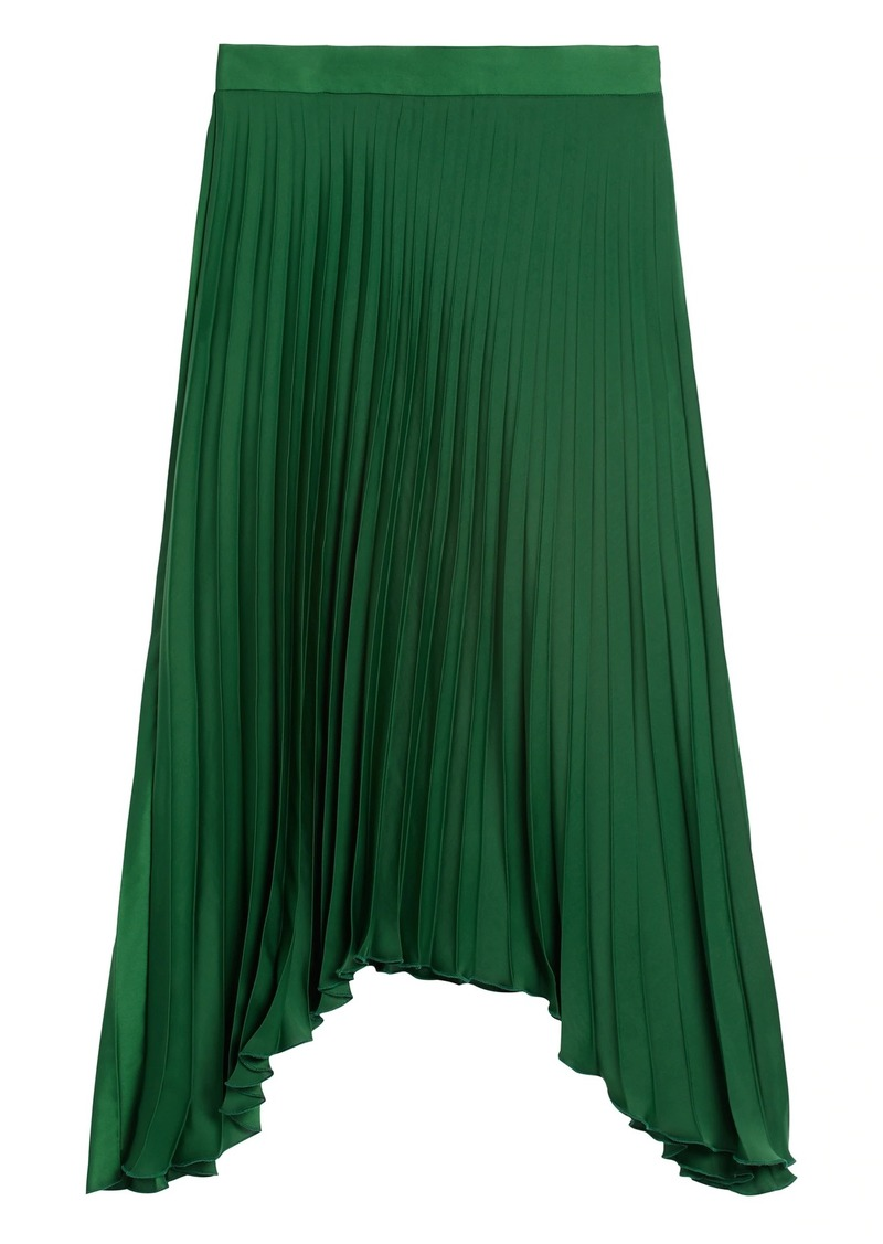 Banana Republic Pleated High-Low Skirt