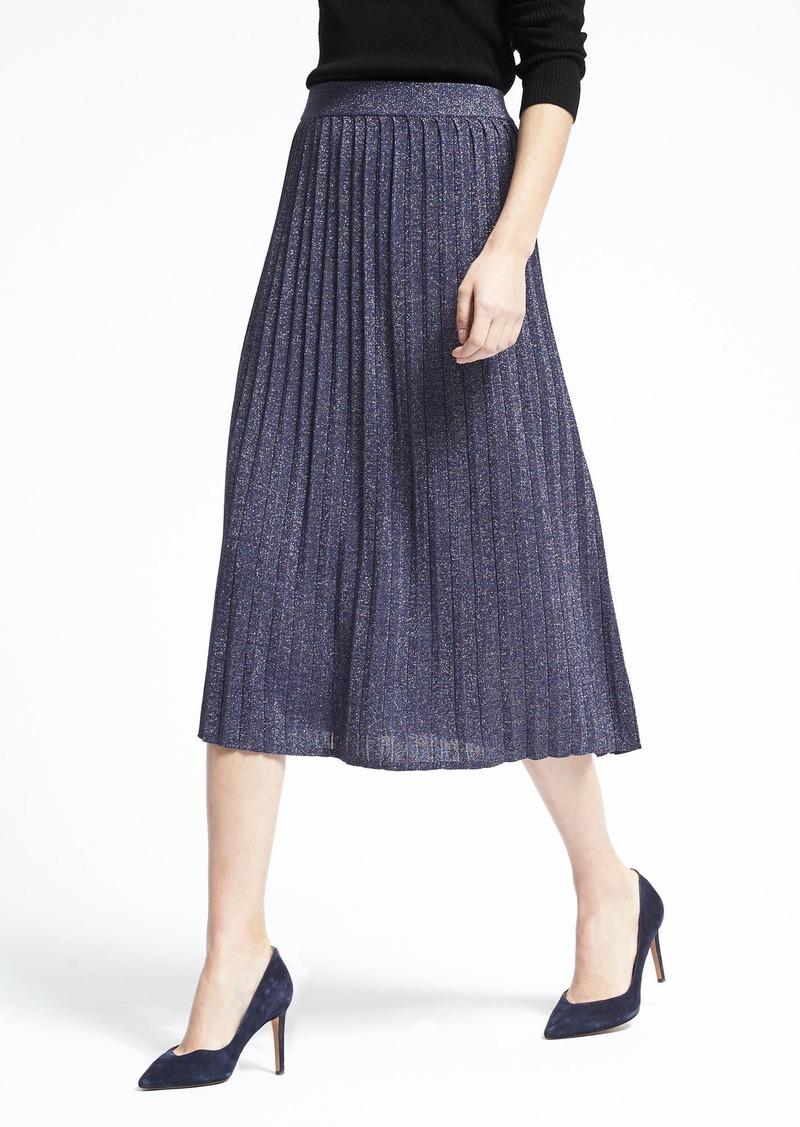11a94fce20 Banana Republic Pleated Metallic Midi Skirt | Skirts