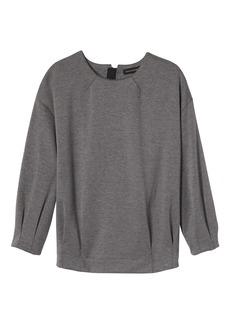 Pleated-Sleeve Couture Sweatshirt