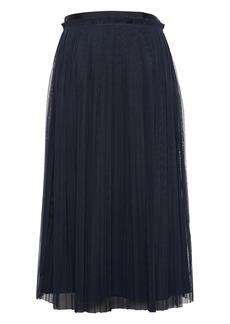Banana Republic Pleated Tulle Midi Skirt