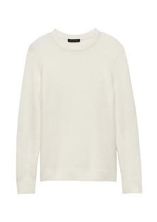 Banana Republic Plush Wool Blend Crew-Neck Sweater