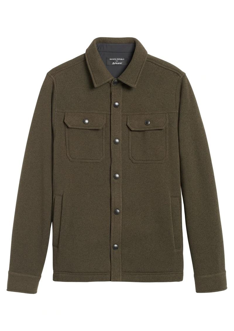 Banana Republic Polartec® Sweater Fleece Shirt Jacket