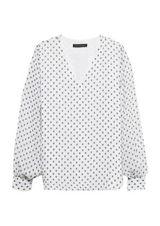 Banana Republic Polka Dot High-Low Top
