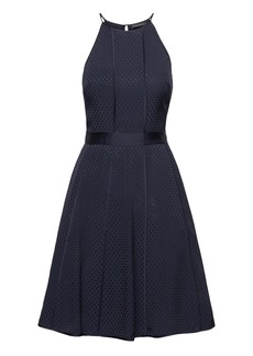 Banana Republic Polka Dot Paneled Fit-and-Flare Dress