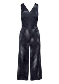 Banana Republic Polka-Dot Twist-Back Cropped Jumpsuit