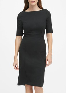 Banana Republic Ponte Boat-Neck Sheath Dress