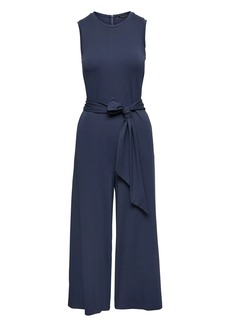 Banana Republic Soft Ponte Cropped Tie-Waist Jumpsuit