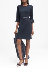 Banana Republic Ponte Flutter-Sleeve Sheath Dress