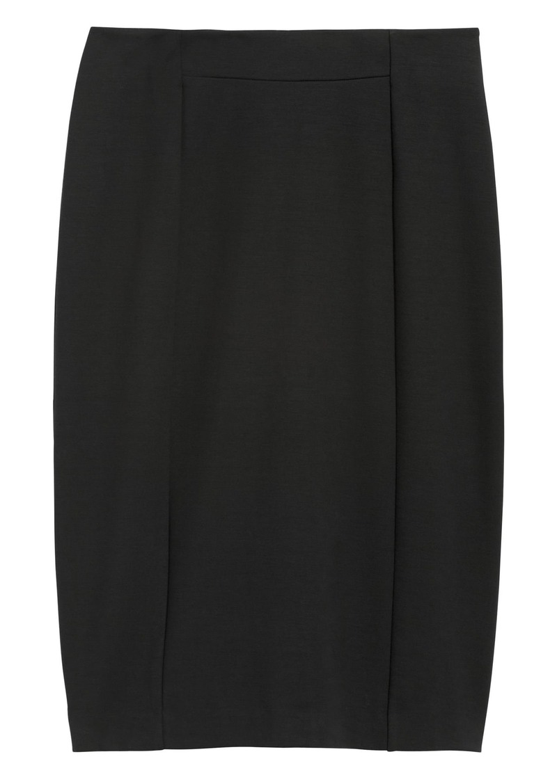 Banana Republic Ponte Pencil Skirt with Exposed Zip