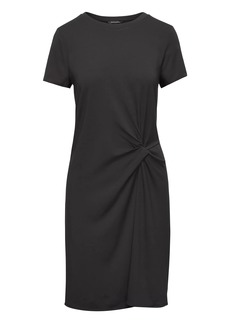 Banana Republic Soft Ponte Twist-Front Dress