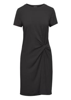 Banana Republic Soft Ponte Twist-Front Dress