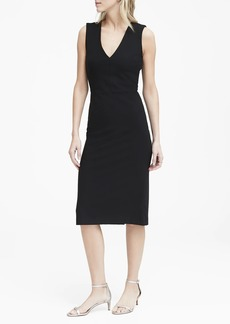 Banana Republic Ponte V-Neck Sheath Dress