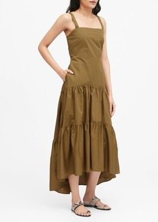 Banana Republic Poplin Tiered Maxi Dress