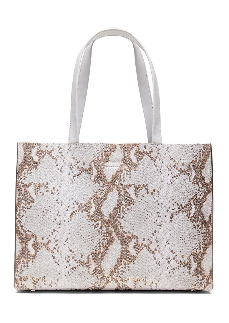 39a18404d748 Banana Republic Portfolio Structured Snake-Effect Leather Tote ...